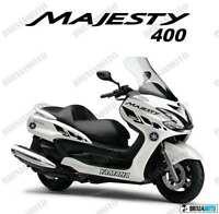 ADESIVI GRAFICA RACING MAJESTY 400 STICKERS TRICOLORE NERO 2004 2012