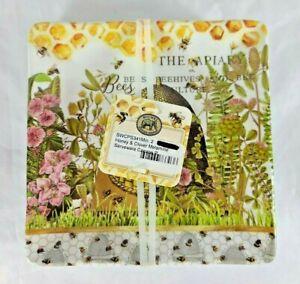Michel Design Works Honey & Clover Melamine Square Serveware Canape Plate Set