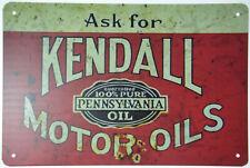"Kendall Motor Oil Gasoline Pennsylvania Retro Garage Metal Tin Sign 12x8"" NEW"