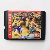 Streets Of Rage III Sonic Version 16 bit SEGA MD Game Card For Sega Mega Drive