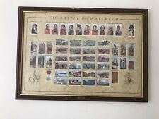 More details for full, loose mounted official reproduction set, 50 wills battle of waterloo cards