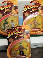 INDIANA JONES HASBRO ACTION FIGURES KINGDOM CRYSTAL SKULL LOT 1:18  BLISTER. NEW