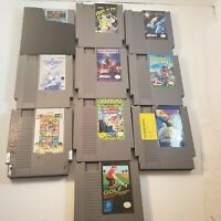 Lot Of 10 NES Games