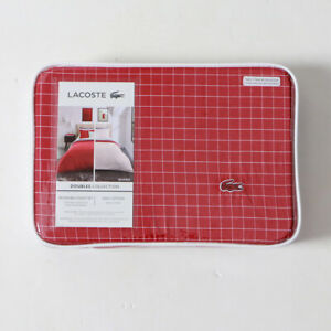 Lacoste Reversible Red Duvet with Sham Twin New
