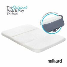 Milliard Pack and Play Mattress, Conveniently Folds Into Bonus Carry Bag