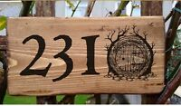 Hobbit House Door Sign Plate Plaque The Of The Rings Gate  Personalised Number
