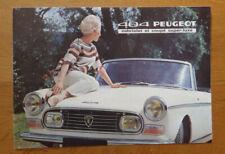 Pe.12 Auto: tijdschriften en boekjes PEUGEOT 404 prospectus des accessoires G.H Vóór 1970