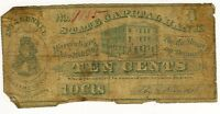 1862 TEN CENTS EBY & KUNKEL GROCERS HARRISBURG, PA ~ GIRL & BANK ~ 10 C. ! #9885