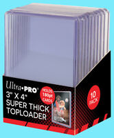 10 Ultra Pro 3x4 180PT SUPER THICK TOPLOADERS NEW Standard Size Card Sleeves