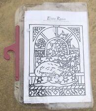 Pre Drawn Designer Silk Painting Range for Hand Painting & Wooden Frame - Cat