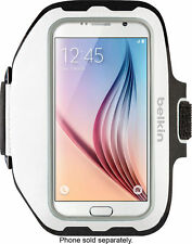 Belkin - Sport-Fit Plus Armband for Galaxy S7 - White / Silver