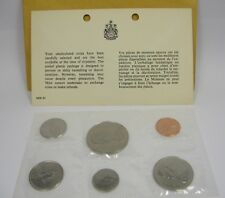 1969 Canada Coin Set Sealed Dollar 50 25 10 5 1 Cent Uncirculated Card Envelop
