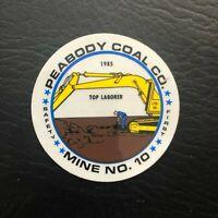 NICE MINE RESCUE WALHONDE WV PEABODY  COAL CO COAL MINING STICKERS # 212