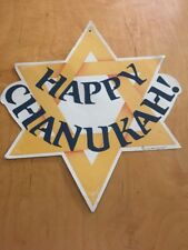 vintage amscan happy chanuka die cut Double Sided 16�
