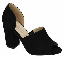 Peep Toes No Pattern Standard (D) Block Heels for Women