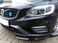 Front R line Bumper valance chin spoiler ELERONS For  Volvo V60R S60R