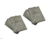 10 x Zyklopenmauerwerk für H0/TT oder Dioramen