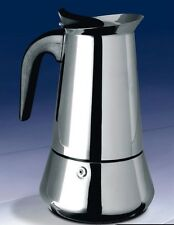 18/8 Stainless steel espresso pot 2 Cups Coffee Maker suit for induction cooker