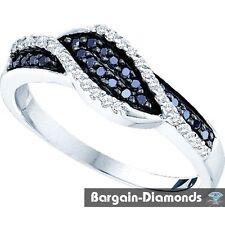 black diamond life journey 14k gold ring infinity weave .24 carats love promise