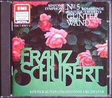Günter WAND SCHUBERT Symphony No.5 Rosamunde D.797 EMI DHM CD 1984 Sinfonie