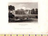 1830 Antik Klein Georgianisch Aufdruck ~ Irnham Hall ~ Lincolnshire