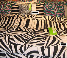 IKEA Myrlilja DUVET COVER Pillowcases SET Black White Swirl 70s Op Art QUEEN