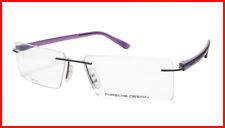 61b525c8087 Porsche Design P8205 Eyeglasses Frame Gunmetal Purple Italy Made 58-15-140