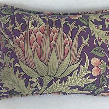 "Morris & Co Artichoke  Aubergine/Olive DKELAR301 18"" x 12"" Cushion Cover Superb"