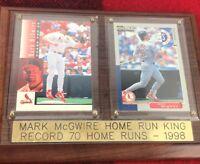 Mark McGwire 70th Home Run 1998 Commemorative Plaque