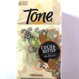 Tone Bath Bars Six 4.25 oz Soap Bars Cocoa Butter with Vitamin E Original