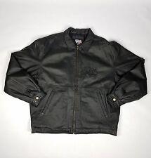 Super Bowl XXXVI 36 Tom Brady Patriots win leather jacket coat X large NFL gear