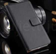 New Black Leather Flip Wallet Phone Case Cover Sony Samsung Apple Huawei - Case