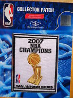 Official San Antonio Spurs 2007 NBA Championship Iron or Sew on Banner Patch