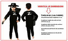 COSTUME DA ZORRO FILM FAMOSI CARTONI ANIMATI SUPER MAN COSPLAY VENDICATORE NOTTE