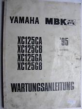 Yamaha xc125 CA Scooters Service information Maintenance Guide Année De Construction 95
