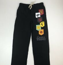 Mens Game Of Thrones Black Knit Lounge Pajama Bottoms Pants Sz XL Sleepwear