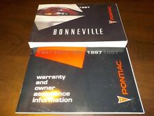 1997 Pontiac Bonneville owners manual factory GM book 97 cars