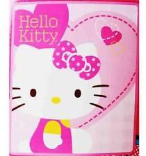 "Hello Kitty Fleece Blanket 50 x 60"" Plush Throw Blanket Offical Sanrio Rachel"
