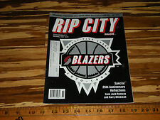 1995 RIP CITY MAGAZINE PORTLAND TRAILBLAZERS 25th ANNIVERSARY BLAZERS BASKETBALL
