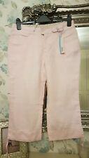 Crew clothing Linen GLA pink Pedal Pushers / Capri Pants Size 12 bnwt £49.95