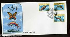 1984 COCOS ISLANDS  Christmas - Bird Fish Butterfly  First Day Cover