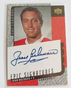 2000-01 Upper Deck Legends Epic Signatures Jean Beliveau #JBE Auto HOF