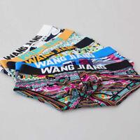 Men's underwear ultra-thin ice silk ethnic print men's briefs factory wholesale