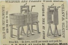 Acme Laundry Soap Niagara Starch Wringer & Folding Wash Bench Prices Listed P50