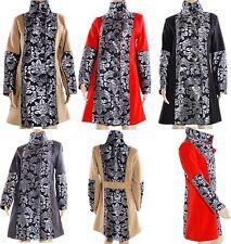 Geblümte Damenjacken & -mäntel aus Polyester mit Knöpfen für die Freizeit