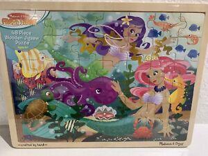 Melissa & Doug Fresh Start Mermaid Fantasea Wooden Jigsaw Puzzle 48 Pieces