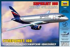 SUKHOI SUPERJET 100 - RUSSIAN REGIONAL AIRLINER (AEROFLOT MARKINGS) 1/144 ZVEZDA