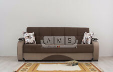 Brand New Turkish 3 Seater Sleeper Fabric Sofa Bed settee with Storage underneth