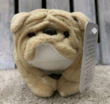Vintage 1997 Stuffins Brown & White Bulldog Plush Dog 5� Stuffed Animal With Tag