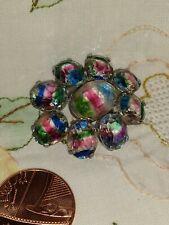 Crystals Sparkling Beautiful Vintage Brooch Rainbow